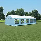 honglianghongshang Rasen & Garten Garten & Balkon Gartenhäuschen & Gartenbauten Partyzelt PVC 5x10 m Weiß