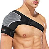 SPITZE FORGE Schulterbandage Verstellbare Linke oder Rechte, Neopren Unisex Kompatibel mit Kalte/Heiße Packung, zur Vorbeugung von Verletzungen, Gefrorenen Schultern, Verstauchungen