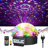 GUSODOR Discokugel LED Lichteffekte Bluetooth MP3 Musik Player RGB Sprachaktiviertes Kristall Magic Ball Bühnentechnik für Show Disco KTV Stab Stadium Club Hochzeit Geburtstag