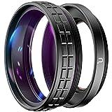 Ulanzi WL-1 2 in 1 18mm Weitwinkel- und 10x Makroobjektiv für Sony ZV1 Kamera - Schwarz