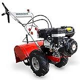 HECHT Benzin-Gartenfräse 750 Motorhacke Kultivator Bodenhacke Bodenfräse Fräse (Motorleistung: 4,7 kW (5,9 PS), 50 cm Arbeitsbreite, 4 Kreisel mit je 3 Messern)