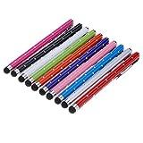 Yizhet 10x Eingabestift Stylus Stift Touch Pen Touchstift Universal für iPhone iPad Samsung und Alle Smartphone Handy Tablet mit kapazitiven Touchscreen (Strass Version)