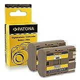 PATONA 2X Akku BP-511 kompatibel mit Canon EOS 30D, 40D, 50D Powershot G5, G6, Pro 90 is, Pro 1, in zuverlässiger und geprüfter Qualität