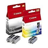 3x Original Tintenpatrone Canon Pixma IP 100 PGI35, CLI36-2x BLACK, 1x COLOR