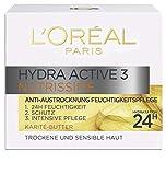 L'Oréal Paris Hydra Active 3 Nutrissime Gesichtscreme für sehr trockene Haut, intensive Pflege, 50 ml