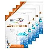 HEITMANN Wäsche Weiss: Waschmittelzusatz für alle Temperaturen, 5×50g