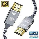 Hdmi Kabel 2Meter 4K@60Hz, Snowkids Highspeed Ethernet 18Gbps,Vergoldete Anschlüsse mit...