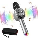 ELZO Karaoke Mikrofon 4 in 1, Drahtlose Bluetooth Mikrofon mit Lautsprecher, Tragbarer Karaoke...