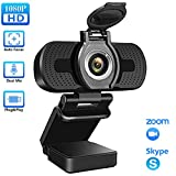 elechok Webcam mit Mikrofon, Full HD 1080P Computer Kamera USB PC Webcam Laptop Streaming Kamera...