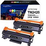GPC Image Tonerkartusche Kompatible für Brother TN2420 TN2410 für DCP-L2510D L2530DW L2550DN, für HL-L2310D L2350DW L2370DN L2375DW, für MFC-L2710DN L2710DW L2730DW L2750DW(Schwarz, 2er-Pack)