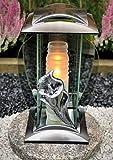 Grablampe Grablicht Grabdekoration Grabschmuck Gartenlampe Kerze incl.Grabkerze