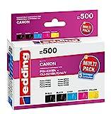 edding Tintenpatrone EDD-500 ersetzt Canon PGI-520/CLI-521BK/C/M/Y Multipack 5 - 2x Schwarz, Cyan, Magenta, Gelb - 1x 20ml + 4x 10,5ml