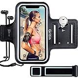 Gritin Sportarmband Handy für iPhone 11/11 Pro/iPhone XS/XR/iPhone 7/8 bis zu 6,1', Schweißfeste...