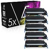 5 Toner kompatibel zu Canon CEXV26 für Canon Imagerunner C1021i, C1021iF, C1022i, C1028iF, C1000 Series - Schwarz je 6.000 Seiten, Color je 6.000 Seiten