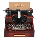 Freyla Box Schreibmaschine Stil-Vintage Schreibmaschine Stil Mechanische Spieluhr Geschenk Schmuckschatulle mit Schublade