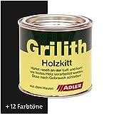ADLER Grilith Holzkitt Spachtelmasse Kitt für Holz Möbel Basteln Reparieren Schwarz 100 ml