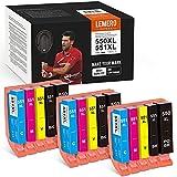15 LEMERO SUPERX 550XL 551 XL Ersatz für Canon PGI-550 CLI-551 Druckerpatrone Kompatibel mit Canon PIXMA IP7250 IP8750 MX925 MG5650 IX6850 MX725 MG5550 MG6350 MG6450 MX920(6B/3C/3M/3Y)