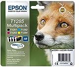 Epson Original Durabrite Ultra, Multipack T1285 Tintenpatrone. Sortierte Farben (Schwarz, Gelb, Magenta, Cyan)