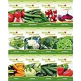 Gemüsesortiment   Gemüse-Set mit 12 Sorten Samen   Gemüsesamen-Sortiment   Saatgut für den Gemüsegarten