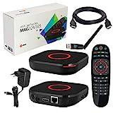 MAG 324 original Infomir & HB-DIGITAL IPTV Set TOP Box Multimedia Player Internet TV IP Receiver (HEVC H.256 Support) + HB Digital WLAN Stick mit Antenne + HDMI Kabel