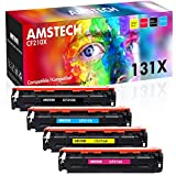 Amstech Remanufactured Toner Cartridge Replacement für HP CF210X 131X CF210A CF211A CF212A CF213A 131A HP131A Toner für HP Laserjet Pro 200 Color MFP M276n M276nw M251n M251nw M276 M251, 4 Packs