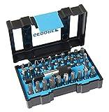 GEDORE Bit-Box Industrie, 32-teilig, Bit-Set mit Bit-Halter und Schraubendrehereinsätzen, 1/4', 6,3 mm, Profi, 666-032-A