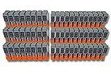 vhbw 60x Druckerpatronen Tintenpatronen Set für Canon SmartBase BJC-4400, BJC-455j, BJC-4550 wie BCI-24BK, BCI-24C.
