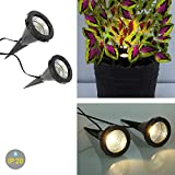 2 x LED-Pflanzen-Strahler JASMIN Handschalter LED-Pflanzen-Strahler-Spot Blumen-Zimmerpflanzen-Blumenkübel-Blumentopf-Strahler-Spotlight Dekorations-Stimmungs-indirekter-Strahler-Spot