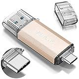THKAILAR 64GB 128GB 256GB 512GB USB-C Flash-Laufwerk Hochgeschwindigkeits-USB 3.0-Speicherstick für Musik/TV/Video/externe Datenspeicherung Speicherstick mit Stift für Smartphone/PC/Galaxy/MacBook Pro