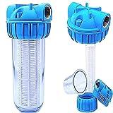 Basal Vorfilter 1'' - 5000 L/h für Garten Pumpen/Hauswasserwerke/Schmutz Filter/Sandfilter/Plus Wandhalterung und Filterschlüssel