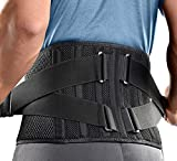 FREETOO 2021 Neu Rückenbandage Mit 7 Stützstreben,360° Verstellbarer Rückengurt Rückenschmerzen,Anti-Rutsch Rückenstütze zur Linderung von Kreuzschmerzen,Ischias und Skoliose (L,waist:44''-53'')