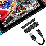 ECHTPower Bluetooth 5.0 Adapter Audio Transmitter für Nintendo Switch/Switch Lite/PS5/PS4/PC Plug & Play USB-C Bluetooth Dongle Sender mit aptX kompetibel mit Bluetooth Kopfhörer Lautsprecher