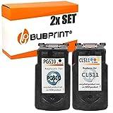 Bubprint 2 Druckerpatronen kompatibel für Canon PG-510 CL-511 für Pixma IP2700 MP230 MP240 MP250 MP270 MP280 MP282 MP490 MP495 MP499 Schwarz/Color