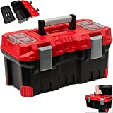 Werkzeugkasten leer Kunststoff Abschließbar 19' Klickverschlüsse Antirutsch Griff viele Unterteilungen Werkzeugkiste Werkzeugbox Werkzeugkoffer Montagekoffer