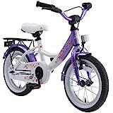 BIKESTAR Kinderfahrrad für Mädchen ab 4 Jahre   14 Zoll Kinderrad Classic   Fahrrad für Kinder Lila & Weiß   Risikofrei Testen