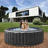 Miweba MSpa aufblasbarer Whirlpool 2021 Comfort Bergen C-BE041 - für 4 Personen - 118 Luftdüsen - 180.0 x 180.0 x 70.0 cm - Pool aufblasbar (Anthrazit)
