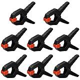 Nirox 8x Federklemmen im Set - Klemmzwingen mit großer Spannweite - hohe Spannkraft der Federzwinge - Leimzwingen mit beweglichen Backen - Spannklemmen