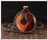 Gitarre Halskette, Musik Halskette, Musik Art Anhänger, Geschenk für Musiker