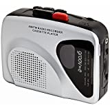 Groov-e GVPS525 Retro Personal Cassette Player and Recorder with Earphones - Silver