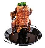 WELLGRO® Hähnchenbräter - Hähnchen Ständer - Bräter - Hähnchen Grill - Hähnchengriller - Geflügelbräter - Geflügel - Brathähnchen