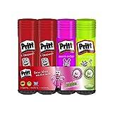 Pritt Klebestift Mix Pack, sicherer und kinderfreundlicher Kleber für Kunst und Bastelarbeiten, Klebstoff für Schule & Bürobedarf, 2 x 20g (Grün & Pink), 2 x 22g Original