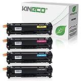 4 Toner kompatibel zu Canon CRG 718 für Canon i-SENSYS LBP-7200, LBP-7600, LBP-7680, MF-8300, MF-8330, MF-8500 Series (Nicht für I-Sensys MF-724cdw) - Schwarz 3.500 Seiten, Color je 2.900 Seiten