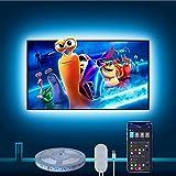 Govee LED TV Hintergrundbeleuchtung, 3m RGB LED Strip kompatibel mit Alexa und Google Assistant, APP-Steuerung, USB betrieben, für 46-60 Zoll Fernseher und PC (nur unterstützt 2.4 GHz WiFi)