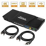 TESmart 2fach HDMI KVM Switch – 4K Ultra HD mit 3840 x 2160 bei 60 Hz 4:4:4; 2 Stuck 1,5m...