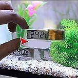 Rapoyo Aquarium Thermometer, Aquarium 3D Digital Elektronisches Thermometer, Mini LCD Digital Temperatur Messwerkzeuge Mini LED Temperatur Meter Fuer Aquarium