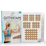 Gittertape Cross Tape – Original Health Press – Größe Mix – Gitterpflaster Akupunkturpflaster mit ausführlicher E-Book Anleitung zum Download