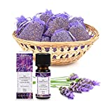 pajoma Lavendelset, 10x Duftsäckchen Lavendel plus 1x ätherisches Duftöl Lavendel, 10 ml, 100% naturrein