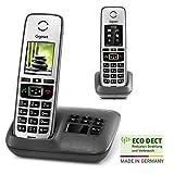 Gigaset Family mit Anrufbeantworter - 2 schnurlose Telefone mit großem, farbigem Display und hoher...