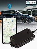 Salind GPS-Tracker Auto, Motorrad und Fahrzeuge mit SIM-Karte, kostenlose App für Android und...