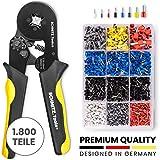 Crimpzangen Aderendhülsen Set von SCHMITZ.Tools® [1800 Teile] - Premium Aderendhülsen Zange [0,25– 10mm2] - Krimpzange - Crimpzange Set - Presszange - Elektrowerkzeug - Aderendhülsenzange